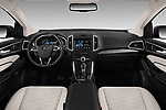 Stock photo of straight dashboard view of a 2017 Ford Edge Vignale base 5 Door SUV