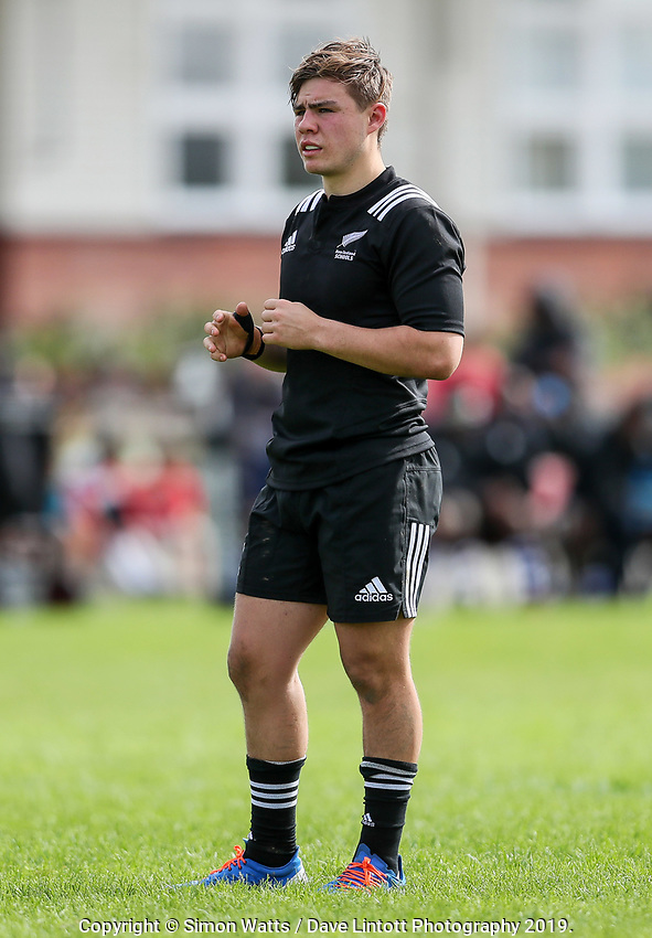 Aidan Morgan in action during the rugby union match between New Zealand Schools and Fiji Schools at Hamilton Boys' High School in Hamilton, New Zealand on Monday, 30 September 2019. Photo: Simon Watts / lintottphoto.co.nz