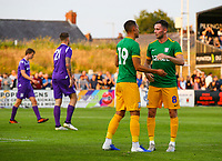 Preston North End's Graham Burke celebrates with Alan Browne after scoring his side's second goal <br /> <br /> Photographer Alex Dodd/CameraSport<br /> <br /> Football Pre-Season Friendly - Chorley v Preston North End - Tuesday July 16th 2019  - Victory Park - Chorley<br /> <br /> World Copyright © 2019 CameraSport. All rights reserved. 43 Linden Ave. Countesthorpe. Leicester. England. LE8 5PG - Tel: +44 (0) 116 277 4147 - admin@camerasport.com - www.camerasport.com