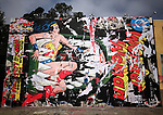 Okay Wonder Women you can handle this, jaws of the leviathan. Street art mural by artist Mr. Brainwash his take on a DC Comic issue called Sea Death, Los Angeles, Ca. June 4, 2017. © Fitzroy Barrett