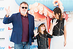 """Pablo Carbonell with his wife Maria Arellano and his daughter Mafalda attends to the morning premiere of the film """"Buscando a Dory"""" at Cines Kinepolis in Madrid. June 19. 2016. (ALTERPHOTOS/Borja B.Hojas)"""