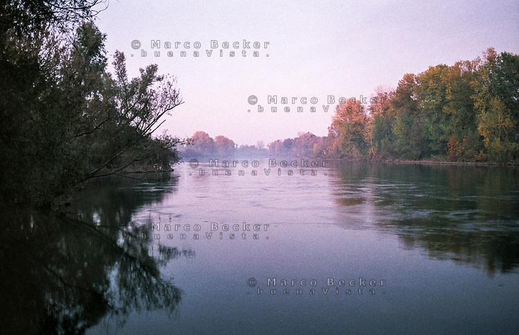 Il fiume Adda presso Camairago (Lodi) --- The river Adda near Camairago (Lodi)