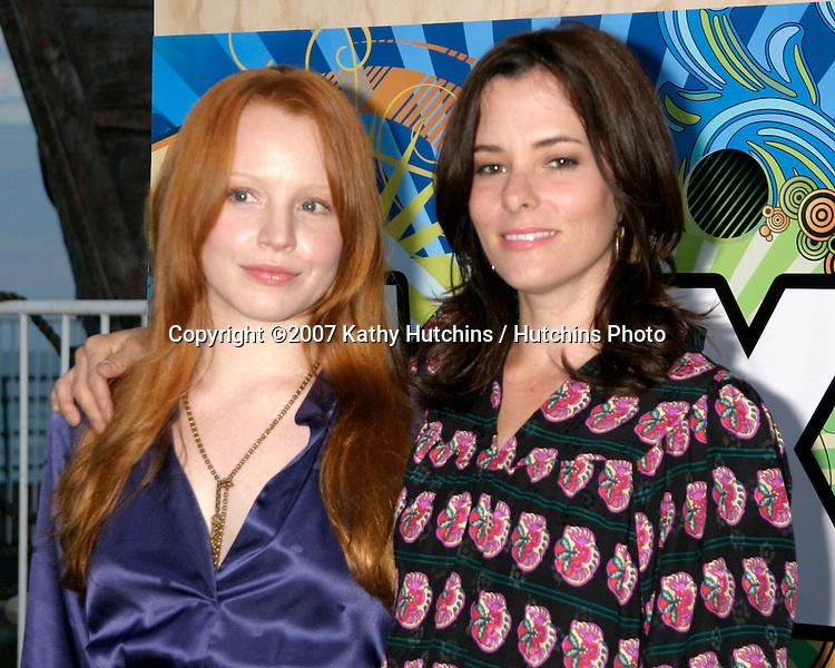 Lauren Ambrose & Parker Posey.Fox TV TCA Party.Santa Monica Pier.Santa Monica, CA.July 23, 2007.©2007 Kathy Hutchins / Hutchins Photo....
