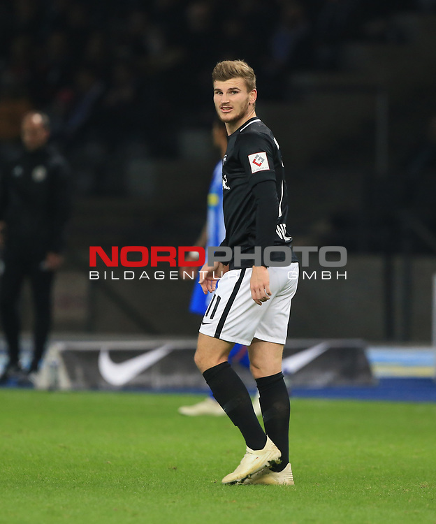 03.11.2018, OLympiastadion, Berlin, GER, DFL, 1.FBL, Hertha BSC VS. RB Leipzig, <br /> DFL  regulations prohibit any use of photographs as image sequences and/or quasi-video<br /> <br /> im Bild Timo Werner (RB Leipzig #11)<br /> <br />       <br /> Foto © nordphoto / Engler