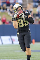 Annapolis, MD - December 27, 2016: Wake Forest Demon Deacons tight end Cam Serigne (85) catches a pass during game between Temple and Wake Forest at  Navy-Marine Corps Memorial Stadium in Annapolis, MD.   (Photo by Elliott Brown/Media Images International)