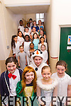 Chloe Fitzpatrick, Rosie Kennelly, Molly Quane, Kristiana Ancevska and Kerrie O'Connor, students from Presentation Primary School, Tralee in rehearsals for their Christmas Play on Tuesday morning.
