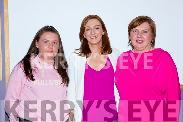 Caoimhe Lehane, Elaine Coffey and Brid Fleming at the Pink Night Womens Christmas in Kilcummin on Saturday night
