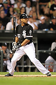 Chicago White Sox outfielder Alex Rios (51) during a game vs. the Detroit Tigers at U.S. Cellular Field in Chicago, Illinois August 13, 2010.   Chicago defeated Detroit 8-4.  Photo By Mike Janes/Four Seam Images