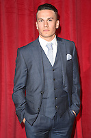 Aaron Sidwell<br /> arrives for the British Soap Awards 2016 at Hackney Empire, London.<br /> <br /> <br /> &copy;Ash Knotek  D3124  28/05/2016