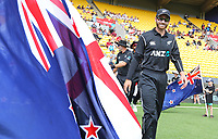 Blackcaps Kane Williamson leads out his team during the third ODI cricket match between the Blackcaps & England at Westpac stadium, Wellington. 3rd March 2018. © Copyright Photo: Grant Down / www.photosport.nz