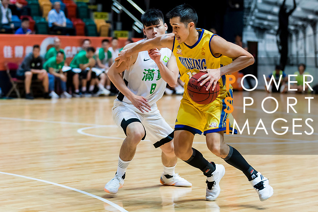 Joe Glen Matthew #13 of Winling Basketball Club goes to the basket against the Tycoon during the Hong Kong Basketball League playoff game between Tycoon and Winling at Queen Elizabeth Stadium on July 27, 2018 in Hong Kong. Photo by Yu Chun Christopher Wong / Power Sport Images