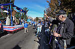 Jim Anderson, of Carson City, boos and gives the Democrats float a thumbs down during the Nevada Day parade in Carson City, Nev. on Saturday, Oct. 27, 2012. .Photo by Cathleen Allison