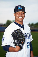 Lake County Captains pitcher Justus Sheffield (24) poses for a photo before a game against the Fort Wayne TinCaps on May 20, 2015 at Classic Park in Eastlake, Ohio.  Lake County defeated Fort Wayne 4-3.  (Mike Janes/Four Seam Images)