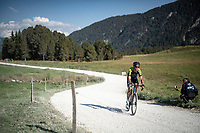 Jack Bauer (NZL/Mitchelton-Scott) at the gravel section atop the Montée du plateau des Glières (HC/1390m)<br /> <br /> Stage 18 from Méribel to La Roche-sur-Foron (175km)<br /> <br /> 107th Tour de France 2020 (2.UWT)<br /> (the 'postponed edition' held in september)<br /> <br /> ©kramon