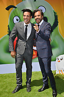 "LOS ANGELES, USA. August 10, 2019: Vadhir Derbez & Eugenio Derbez at the premiere of ""The Angry Birds Movie 2"" at the Regency Village Theatre.<br /> Picture: Paul Smith/Featureflash"