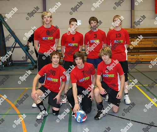 2008-11-16 / Volleybal/ Jeugd / Jongens B VC Zoersel / B. Van den Boogaert, M. Verboomen, J. Van Bouwel, T. Huysmans, D. Van Eyndhoven, A. Van Hofstraeten en V. Van Deuren..Foto: Maarten Straetemans (SMB)