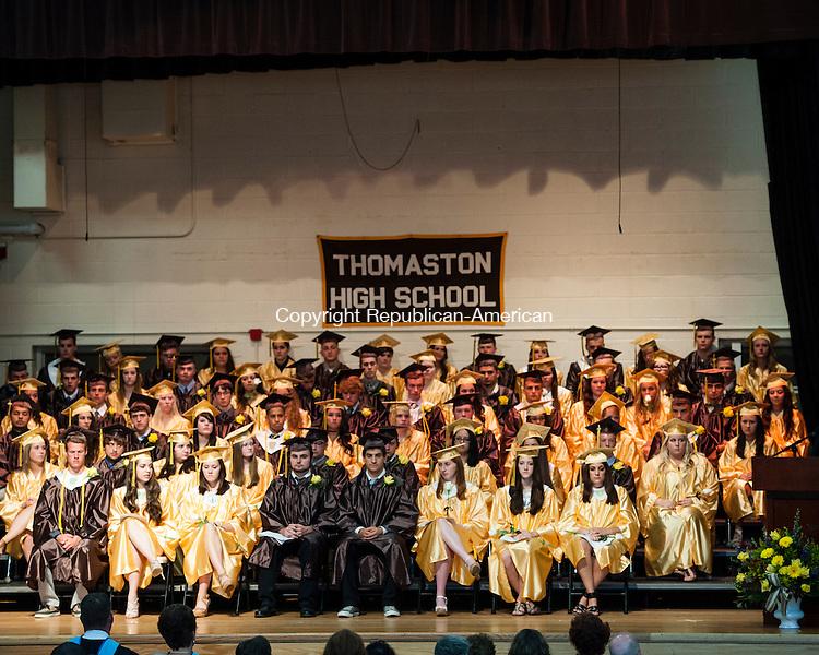 THOMASTON, CT-18 June 2014-061814EC09-  Thomaston high school's graduates on stage Wednesday night. Erin Covey Republican-American