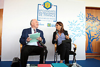 MARTINE VASSAL - DOMINIQUE BUSSEREAU - CONFERENCE DE PRESSE DE PRESENTATION DU 87EME CONGRES DES DEPARTEMENTS DE FRANCE A MARSEILLE, FRANCE, LE 15/09/2017.