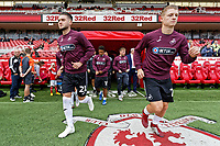 (L-R) Matt Grimes and George Byers of Swansea City exit the tunnel prior to the Sky Bet Championship match between Middlesbrough and Swansea City at the Riverside Stadium, Middlesbrough, England, UK. Saturday 22 September 2018