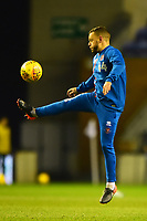 Blackpool's Jay Spearing warms up<br /> <br /> Photographer Richard Martin-Roberts/CameraSport<br /> <br /> The EFL Sky Bet League One - Wigan Athletic v Blackpool - Tuesday 13th February 2018 - DW Stadium - Wigan<br /> <br /> World Copyright &not;&copy; 2018 CameraSport. All rights reserved. 43 Linden Ave. Countesthorpe. Leicester. England. LE8 5PG - Tel: +44 (0) 116 277 4147 - admin@camerasport.com - www.camerasport.com