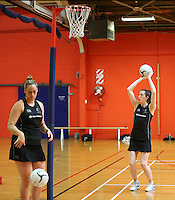 30.10.2014 Silver Ferns Bailey Mes in action during training ahead of the second test match in Palmerston North. Mandatory Photo Credit ©Michael Bradley.