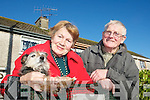 Kay O'Sullivan and her dog Murph, Daltons avenue Killarney chatting with her neighbour Donie O'Dowd.