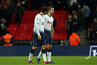 Harry Kane of Tottenham Hotspur limps off with an injury after the final whistle of Tottenham Hotspur vs Manchester United, Premier League Football at Wembley Stadium on 13th January 2019