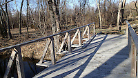 NWA Democrat-Gazette/FLIP PUTTHOFF <br /> The city of Fayetteville is building a boardwalk over a moist      Feb. 2 2017      area of trail behind the Botanical Gardens of the Ozarks.