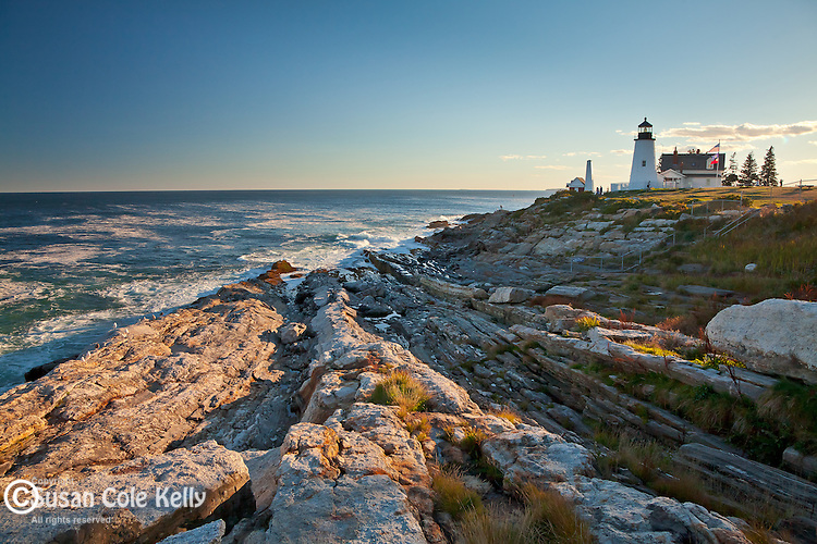 Storm waves at Pemaquid Point Light, Bristol, ME, USA