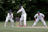 N Jacobs hits 4 runs for Ilford for his team during Ilford CC (batting) vs Billericay CC, Shepherd Neame Essex League Cricket at Valentines Park on 25th May 2019