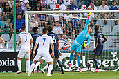 June 19th 2017, Kielce, Poland; UEFA European U-21 football championships, England versus Slovakia; Martin Chrien (SLO) scores his goal over the diving arms of goalkeeper Jordan Pickford (ENG)