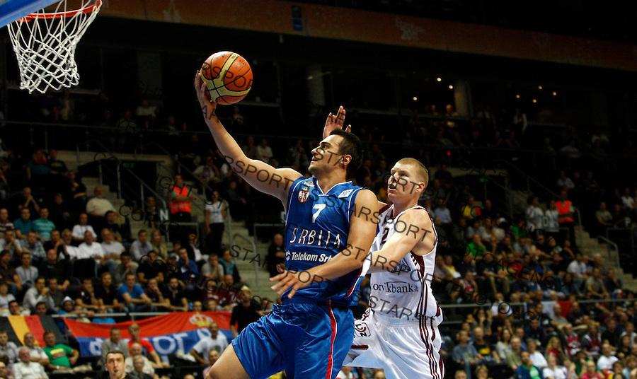Ivan Paunic during round 2, Group B, basketball game Latvia vs Serbia in Lithuania, Siauliai, Siauliu arena, Eurobasket 2011, Thursday, September 1, 2011. (photo: Pedja Milosavljevic/STARSPORT)