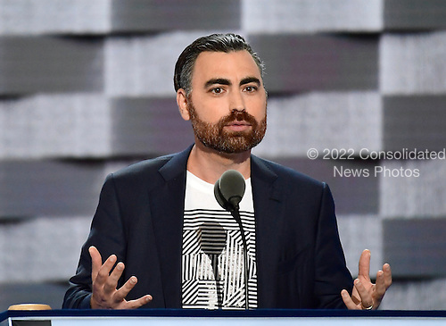 Jesse Lipson of Raleigh, North Carolina makes remarks at the 2016 Democratic National Convention at the Wells Fargo Center in Philadelphia, Pennsylvania on Monday, July 25, 2016.<br /> Credit: Ron Sachs / CNP<br /> (RESTRICTION: NO New York or New Jersey Newspapers or newspapers within a 75 mile radius of New York City)