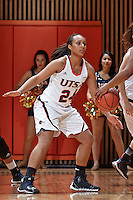 SAN ANTONIO, TX - FEBRUARY 5, 2014: The Florida International University Panthers versus the University of Texas at San Antonio Roadrunners Women's Basketball at the UTSA Convocation Center. (Photo by Jeff Huehn)
