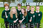 Thomas Horan, Leanne Cronin, Adam O'Brien, Geraldine Moriarty, Nathan Houlihan, Kacper Mikolajczyk and Daniel Mianowski from Killorglin Community College who received their Junior Certs results on Wednesday