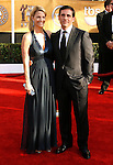 LOS ANGELES, CA. - January 25: Actor Steve Carrel and Nancy Walls arrive at the 15th Annual Screen Actors Guild Awards held at the Shrine Auditorium on January 25, 2009 in Los Angeles, California.