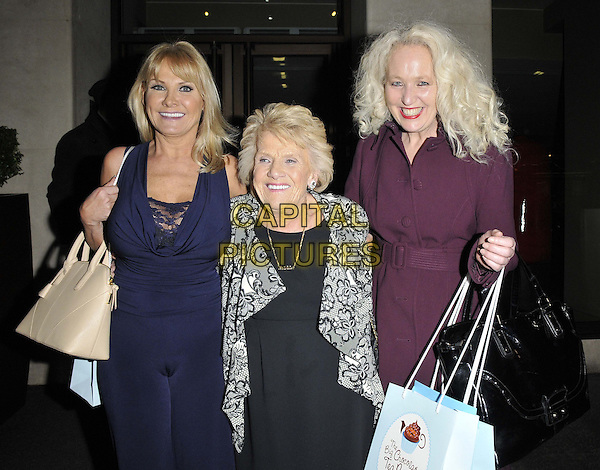 LONDON, ENGLAND - MARCH 12: Carol Wright &amp; Patricia &quot;Nanny Pat&quot; Brooker &amp; Debbie Douglas attend the Big Chocolate Tea Party, May Fair Hotel, Stratton St., on Wednesday March 12, 2014 in London, England, UK.<br /> CAP/CAN<br /> &copy;Can Nguyen/Capital Pictures