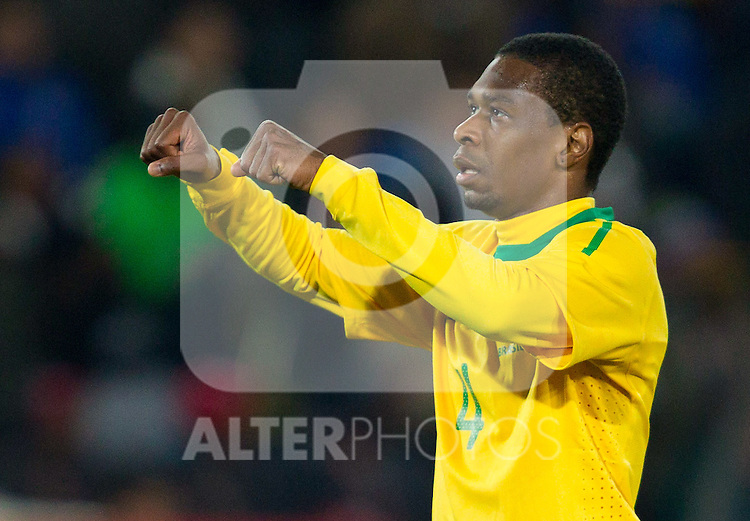Juan of Brazil celebrates during the 2010 FIFA World Cup South Africa. EXPA Pictures © 2010, PhotoCredit: EXPA/ Sportida/ Vid Ponikvar +++ Slovenia OUT +++