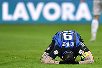 Mauro Icardi Inter delusione Dejection <br /> Milano 04-04-2018 Stadio Giuseppe Meazza in San Siro Football Calcio Serie A 2017/2018 Milan - Inter. Foto Andrea Staccioli / Insidefoto