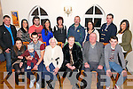 Jeff O'Donoghue (2nd left) from Killarney celebrated his 21st Birthday in The Kerry Way last Sunday night surrounded by friends and family. Bottom: Emma Looney, baby Ryan O'Donoghue, Noreen O'Donoghue, Maura and Paddy Healy and Lee O'Donoghue, Top: Pat Looney, Marlene and Ger O'Donoghue, Norissa O'Donoghue, Teresa Looney, Pat O'Donoghue, Kathleen O'Donoghue, P.J. O'Donoghue and Lisa Goulding.