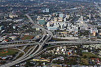 aerial photograph I-95 I-395 interstate interchange Miami Florida