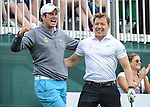 England&rsquo;s Vernon Kay and  Ben Shepard lark about on the first <br /> <br /> Golf - Day 1 - Celebrity Cup - Saturday 4th July 2015 - Celtic Manor Resort  - Newport<br /> <br /> &copy; www.sportingwales.com- PLEASE CREDIT IAN COOK