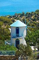 Windmill near Portes, Aegina, Greek Saronic Islands