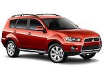 2010 Red Mitsubishi Outlander SUV Front 3/4 Angular View