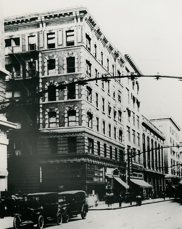 UNDATED..Historical..Taylor Building.built 1908.Corner of Market Street & Granby Street.from the Carroll Walker Collection...NEG#.NRHA#..