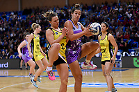 Stars&rsquo; Maia Wilson and Pulse&rsquo; Claire Kersten in action during the ANZ Premiership - Pulse v Northern Stars at Te Rauparaha Arena, Porirua, New Zealand on Monday 25 June 2018.<br /> Photo by Masanori Udagawa. <br /> www.photowellington.photoshelter.com