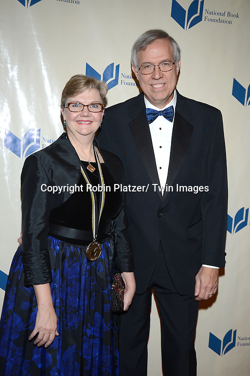 Kathi Appelt and attend the 2013 National Book Awards Dinner and Ceremony on November 20, 2013 at Cipriani Wall Street in New York City.