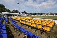 General view of the empty seats around the ground ahead of Essex Eagles vs Sussex Sharks, Vitality Blast T20 Cricket at The Cloudfm County Ground on 4th July 2018