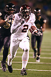 18 November 2006: Virginia Tech's Josh Morgan (2) outruns Wake Forest's Jyles Tucker (behind) as he races into the endzone for a 53 yard touchdown reception. The Virginia Tech Hokies defeated the Wake Forest University Demon Deacons 27-6 at Groves Stadium in Winston-Salem, North Carolina in an Atlantic Coast Conference NCAA Division I College Football game.