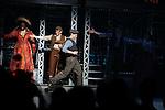 Capathia Jenkins, Andrew Keenan-Bolger, Ben Fankhauser, Kara Lindsay & Jeremy Jordan.during the 'NEWSIES' Opening Night Curtain Call at the Nederlander Theatre in New York on 3/29/2012